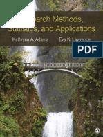 Research Methods, Statistics, A - Kathrynn a. Adams