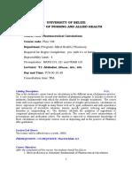 Phar 102 - Pharmaceutical Calculations