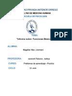 Informe de Prueba Psicologica Funciones Basicas