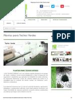 Plantas Para Techos Verdes _ Techos Verdes