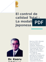 control de calidad total la modalidad Japonesa