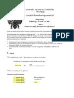 Mathcad - 2.0 Precipitación de Diseño