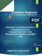 Presentacion Coailicion Regional por la transparencia