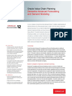 Oracle - DataSheet_VCP R12_Demantra Advanced Forecasting and Demand Modeling (057019)