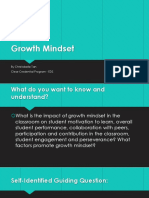 growth mindset capstone