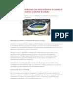 Algunas Recomendaciones Que Deberán Tenerse en Cuenta Al Construir o Renovar Un Estadio