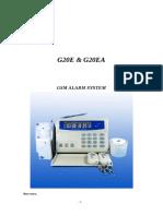 Gsm g20 Alarm System Manual