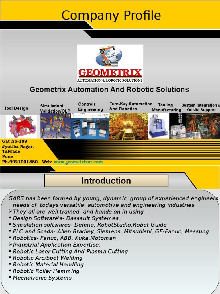 Geometrix Company Profile | Automation | Computer Aided Design
