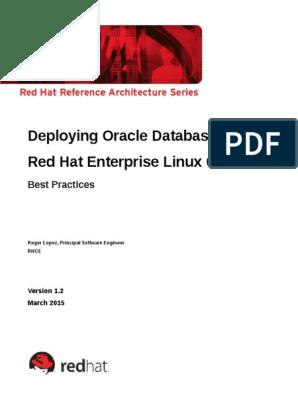 Deploying Oracle 12c on Rhel6 1 2 1 | Oracle Database