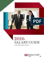 Robert Half Legal 2016 Salary Guide