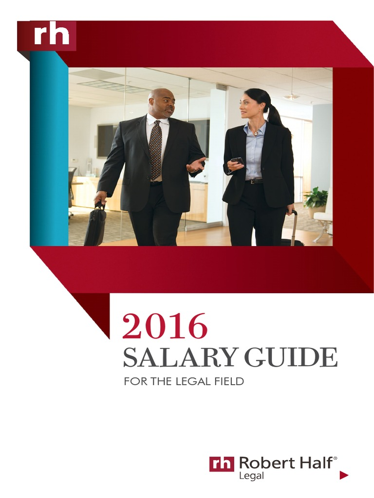 Robert half legal 2016 salary guide law firm paralegal 1betcityfo Image collections