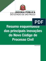 DEFENSORIA PUBLICA SP - Resumo esquemático das principais inovações do novo CPC.pdf