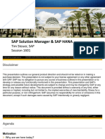 SAP Solution Manager and SAP HANA