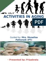 Activities in Aging