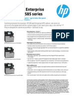 HP Officejet Enterprise Color MFP X585 series