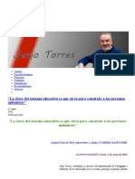 Jurjo Torres Santomé - Profesor de la Universidad de A Coruña