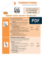 Formations Finances de Septembre à Décembre 2016