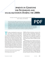 Developments in Gemstone Analysis Techniques and Instrumentation During the 2000s