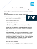 Anhydrous Ammonia Bulk Storage Guidelines for Industrial Railways