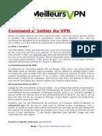 Comment s' Initier Au VPN