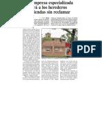 Una empresa especializada buscará a los herederos de viviendas sin reclamar