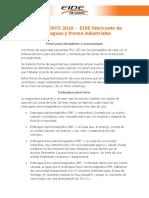 USOS AGOSTO 2016 - EIDE Fabricante de Embragues y Frenos Industriales