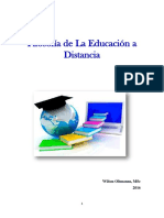 Filosofia de La Educacion a Distancia.