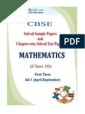 10 Mathematics SA 1 eBook New   Triangle   Polynomial