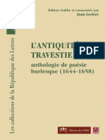 L'antiquité travesty