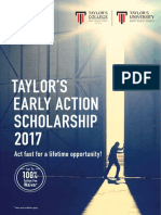 Taylors Early Action Scholarship 2017 Brochure