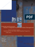 Financial and Economic Issues in Integrated Sustainable Waste Management