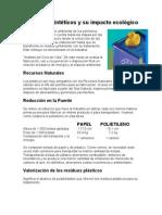 impacto ecologico de los polimeros sinteticos