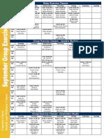 September 2016 Class Schedule