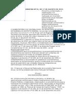 Instrução Normativa Nº 01 - Comissões de Inventário