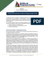 Enfoques Teóricos Presentes en El Diseño de Programas Sociales en Chile