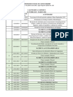 Calendario Academico Octubre Marzo 2016