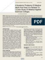 The Social and Academic Problems of Medical Colleges Students and How It is Related to Students Level Case Study of Medical Applied Sciences College