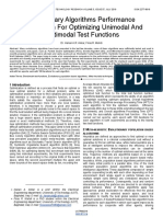 Evolutionary Algorithms Performance Comparison for Optimizing Unimodal and Multimodal Test Functions
