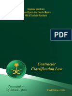 Contractor Classification Law