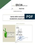 Diploma Asistencia on Line Call-López - Borja Comas