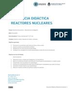 """Secuencia Didáctica """"Reactores Nucleares"""""""