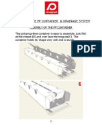 Assembly of the Pp Container and Drainage System