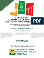 Simposium Contable y de Auditoria Del Sector Minero Energetico-sin Fin Lima 2015