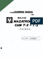 Mazatrol Programing
