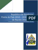 Plan de Nación y Vision de Pais 2038 Honduras