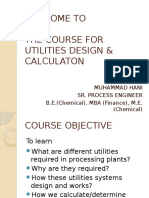 Utilities Design Course