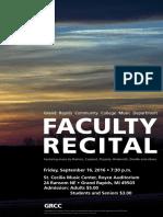 67831 Faculty Recital Poster