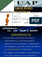 Clase 11 Metabolismo Proteinas