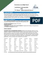 ap human geography 1300 syllabus