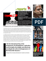 Disappearances and unlawful detentions in Bangladesh